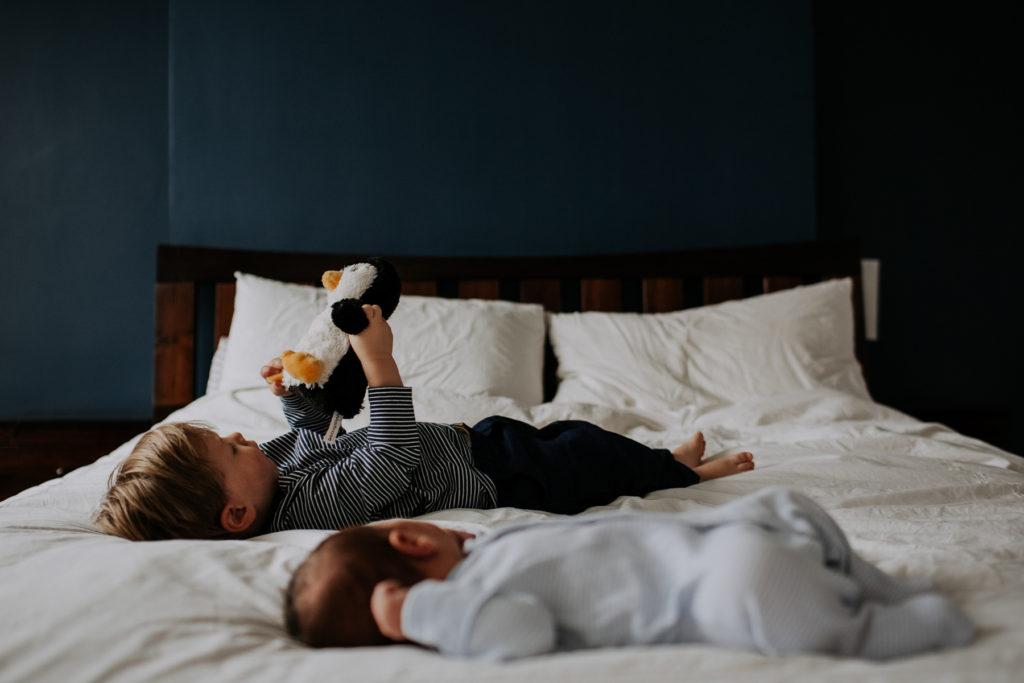 baby and sibling shoot
