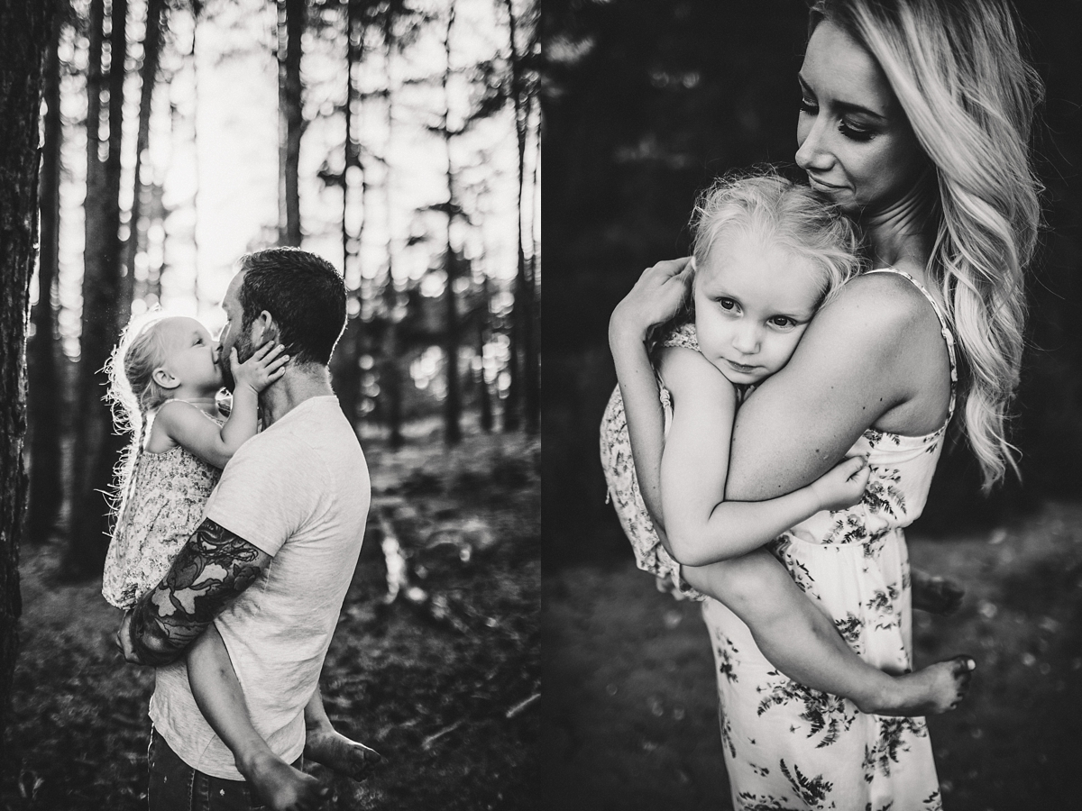 black and white family photoshoot ideas