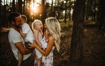 Sunset Family Photography in Surrey